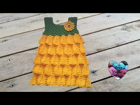 Robe Tournesol Crochet Facile 2 2 Vestido Girasol Crochet Youtube