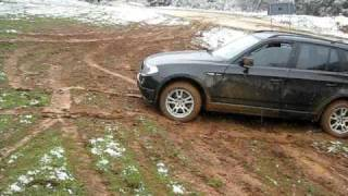 BMW X3 in mud