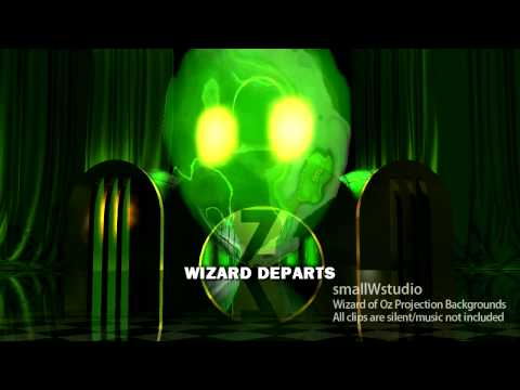 Wizard of OZ Stage Projection Backgrounds