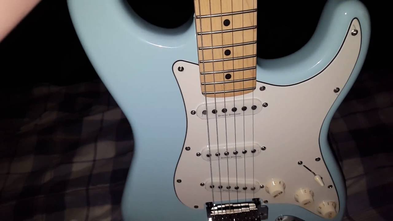 new squier deluxe stratocaster guitar youtube. Black Bedroom Furniture Sets. Home Design Ideas