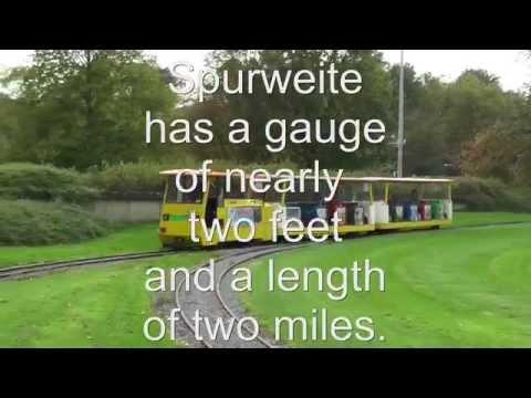 Railway in the park: 2 feet narrow gauge in Essen at Gruga