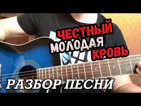Как играть на гитаре ЧЕСТНЫЙ - МОЛОДАЯ КРОВЬ (РАЗБОР)
