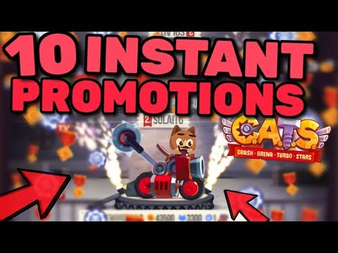 ANOTHER 10 INSTANT PROMOTIONS IN C.A.T.S!! Fully Maxed Car in Crash Arena Turbo Stars