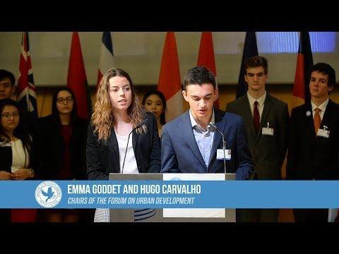 FerMUN 2018 : Chairs of the Forum on Urban development closing remarks