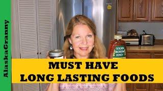 Must Have Long Lasting Foods - Forgotten Forever Foods For Prepper Pantry Stockpile