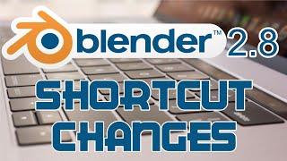 Blender 2.8 Keyboard Shortcut Changes