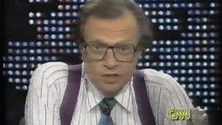 Larry King1992 about linking UFO-sightings with Near-Death Experiences ©CNN 1992