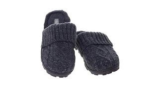 Sporto Sally2 Knit Slipper with Faux Fur Trim