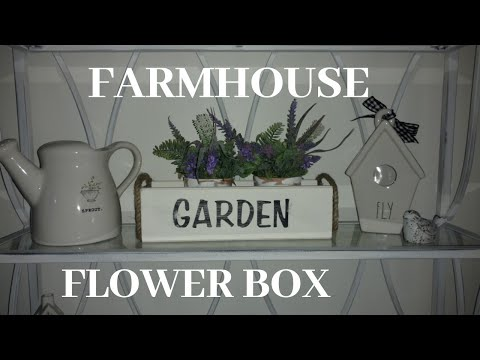 Diy farmhouse flower box / diy flower garden box/diy farmhouse box