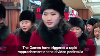 Olympics 2018: North Korean Cheerleaders