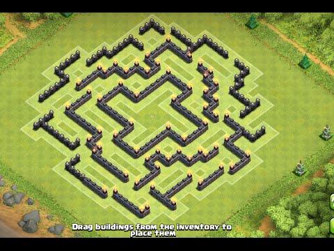 Base Coc Th 9 Labirin 8