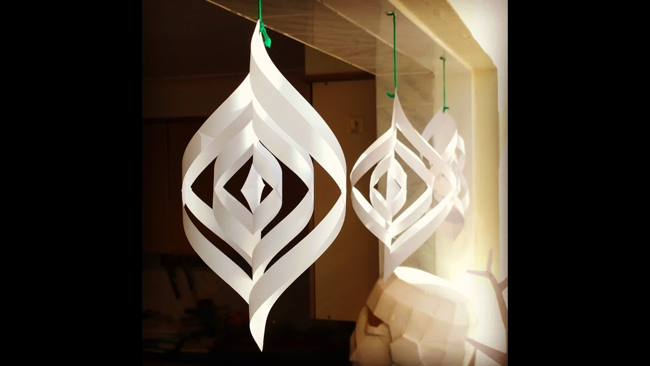 Superbe Quick And Easy Paper Christmas Decorations   YouTube