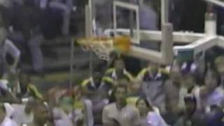 NBA 1992 Playoffs Seatle Supersonics Vs Golden State Warriors Game 4 Shawn Kemp Power Slam