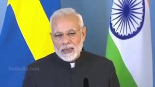 PM Narendra Modi and Swedish PM at Joint Press Meet at Rosenbad, Sweden