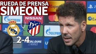 Real Madrid 2-4 Atlético | Rueda de prensa de Simeone tras la Supercopa | Diario AS