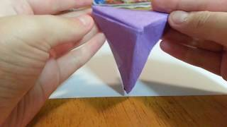 Origami Uneven Pyramid, Designed By Golden Fire - (folding Instructions)