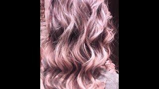 Мягкое  бежево -розово, фиолетовое  Омбре. Тёмные волосы. Soft beige -pink, purple Ombre
