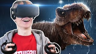 FIGHTING A GIANT SCARY T-REX IN VR! | Robinson: The Journey (Oculus Rift CV1 Gameplay) #5