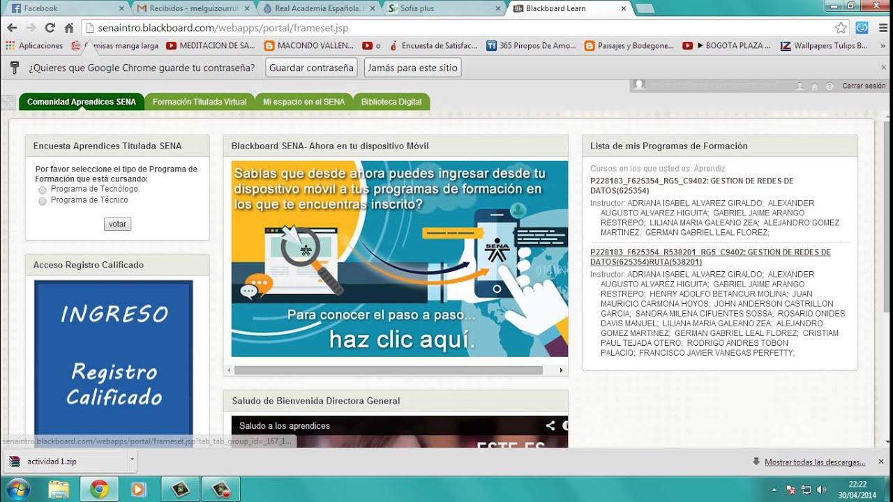 Tutorial Para Subir Trabajos En La Plataforma Blackboard - Sena ...