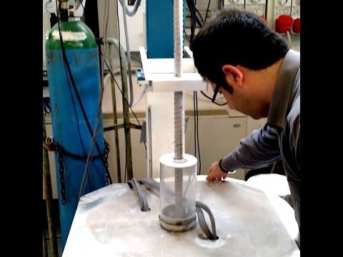 Testing lunar ice drill design