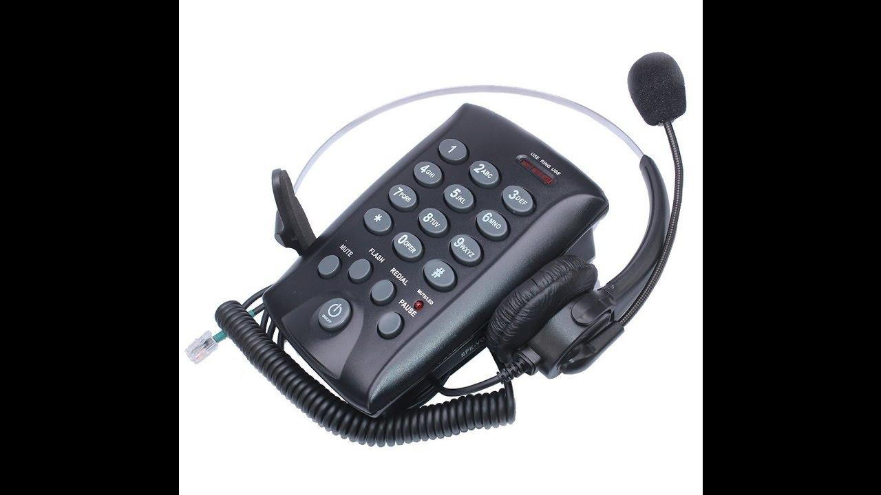 Arama Wantek Wired Telephone Headset Mono W Noise Canceling Mic And Dialpad Youtube