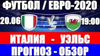 Футбол Чемпионат Европы 2021 ЕВРО 2020 Италия Уэльс Кто победит