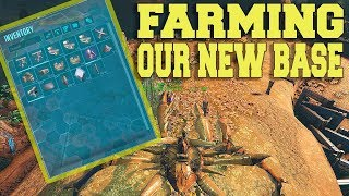 FARMING FOR OUR NEW BASE FROM THE GROUND UP 5 OFFICIAL PVP ARK SURVIVAL EVOLVED