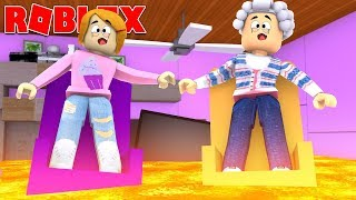 Roblox The Floor Is Lava With Grandma And Molly!