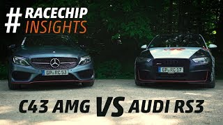 RaceChip test // Mercedes C43 AMG vs Audi RS3 // #racechipinsights