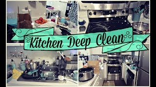 CLEAN WITH ME | KITCHEN DEEP CLEAN | MAJOR CLEANING MOTIVATION