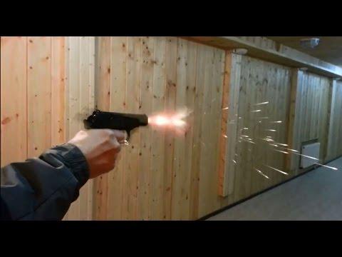 Пистолет Макарова под СХП (холостой патрон) - YouTube