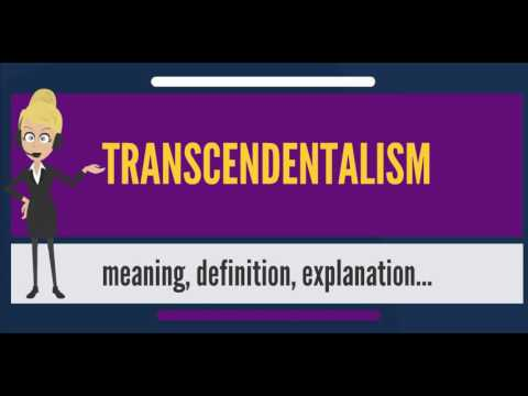 What is TRANSCENDENTALISM? What does TRANSCENDENTALISM mean? TRANSCENDENTALISM meaning