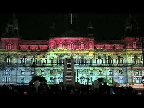World War 1 Light Show Projection