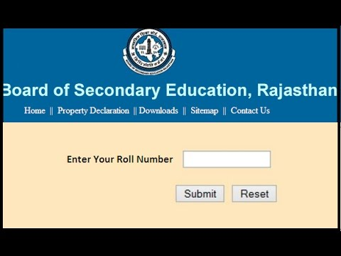 Rajasthan Board 12th Arts Result 2019 RBSE 12th Arts, Commerce, Science Results