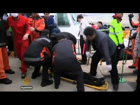 Scores rescued from sinking South Korean ship