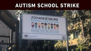 Several teachers at the Johannesburg School for Autism abandoned their classrooms to demonstrate against poor working conditions, in Parktown on Wednesday.