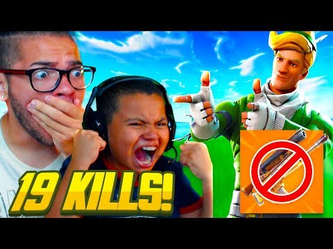 HARDEST FORTNITE CHALLENGE EVER ATTEMPTED LEADS TO MY LITTLE BROTHER BREAKING HIS RECORD KILLS!! thumbnail
