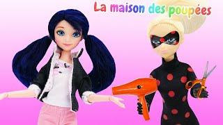 Marinette dans le salon de beauté. Vidéo de LadyBug pour enfants.