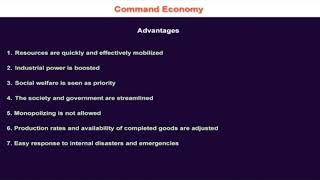 1.10.7 Advantages of Command Economic System