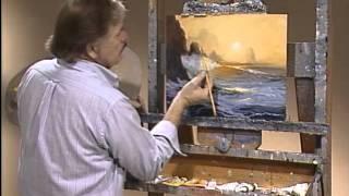 видеоурок живопись маслом море в желтых тонах