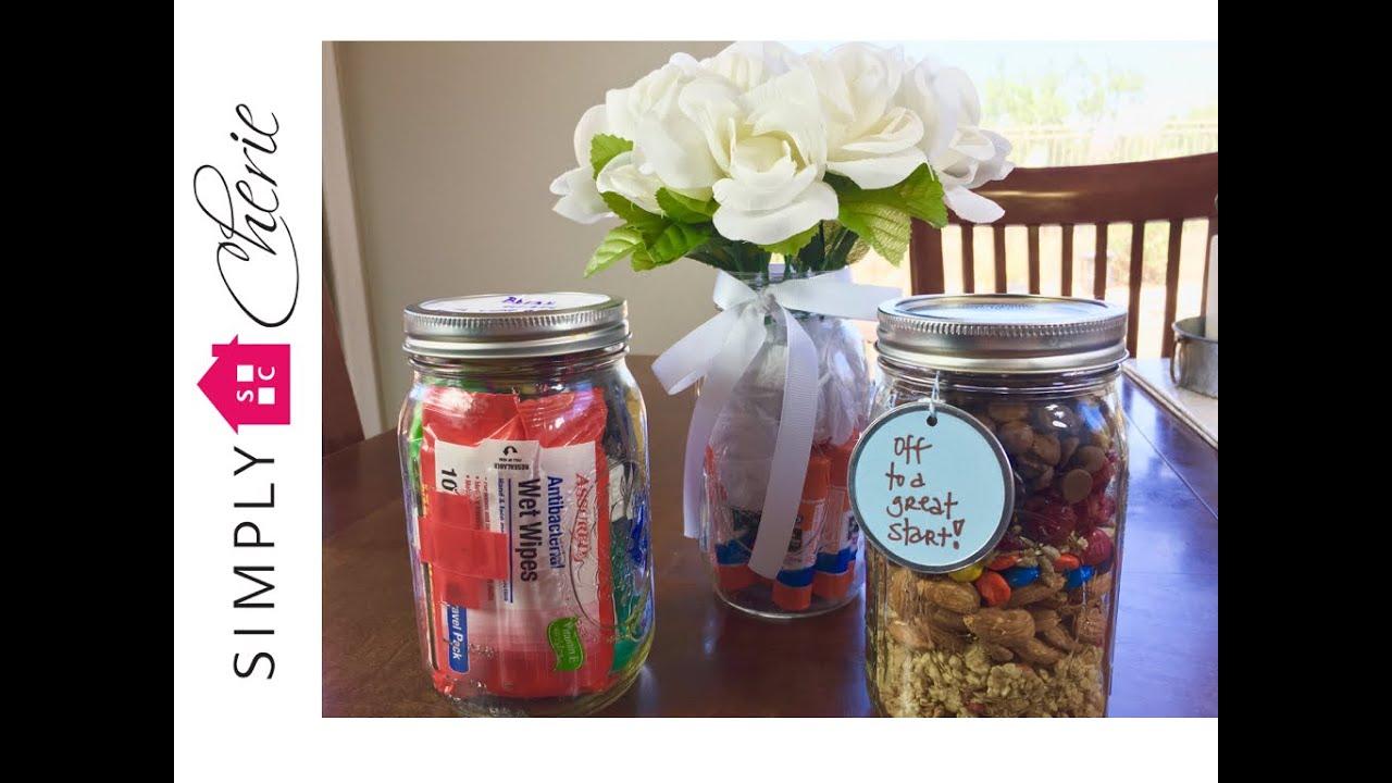 Back To School 3 Simple Teacher Gift Ideas In Mason Jars Ep 3 Of 4 Youtube