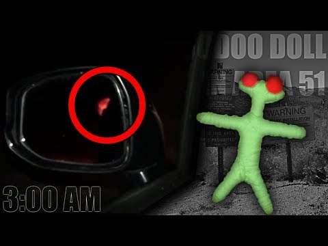 (ALIEN APPEARED) DO NOT USE ALIEN VOODOO DOLL IN AREA 51 AT 3:00 AM | PROOF ALIENS ARE REAL!!