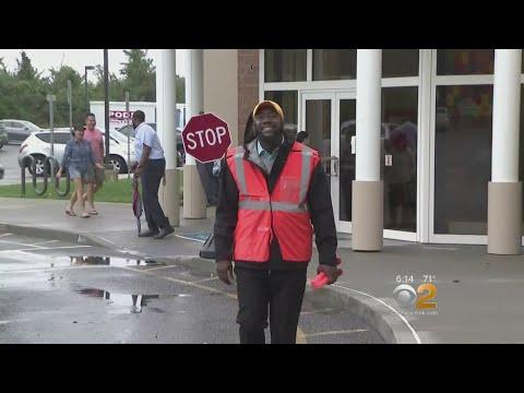 Superintendent Directs Traffic Outside Long Island School