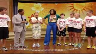 Live with Kelly - Michelle Obama surprises jump rope team!