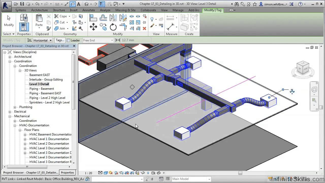 revit mep 2014 tutorial detailing in 3d youtube rh youtube com Revit MEP Library Revit MEP Tutorials