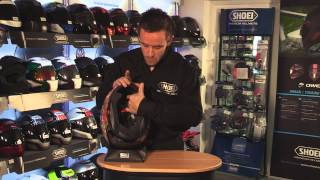 Removing your SHOEI helmet lining