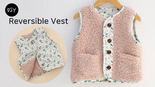 DIY 양면 양털조끼 만들기 | 양면 착용가능한 리버시…