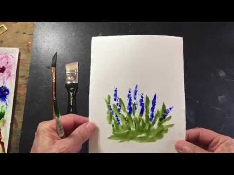 Watercolor Tips #3 - Let Your Brushes Do the Work.