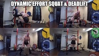 7-18-2019 Orc Mode Training - Dynamic Effort Chain Box Squat, Sumo Deadlift & Good Mornings