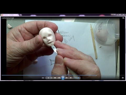 Sculpting the face for my bjd ball jointed doll